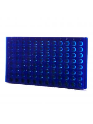 96 Well Reversable Microcentrifuge Tube Rack, Blue, 5/Pack