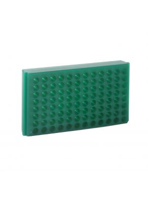 96 Well Reversable Microcentrifuge Tube Rack, Green, 5/Pack