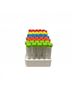 15ml Conical Bottom Centrifuge Tubes with Colored Caps, Sterile, Racked, 500/cs