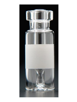 Chromatography Vials, Big Mouth, Clear Interlocked™ Vial/Insert, Limited Volume Snap Ring™/Crimp Top Vials, with Marking Spot, 11mm Crimp, 12x32mm, 300µL, 100/CS