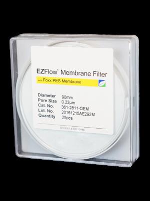 EZFlow Membrane Disc Filter, PES, 0.22µm, 90mm, Non-Sterile, 25/pk