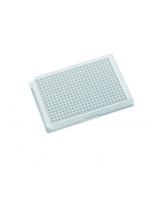 Krystal™ 384 Well Glass Bottom Microplates, White, with Lid., Individually Packed, 10/Case