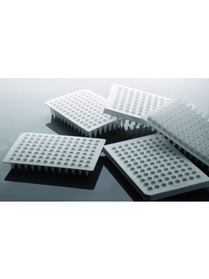 PCR Plate 96 Well, 0.2ml, Semi-Skirt, White, 25/pk 100/cs