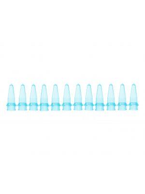 PCR 12 Well Tube Strips, .2ml, Blue, 100/pck
