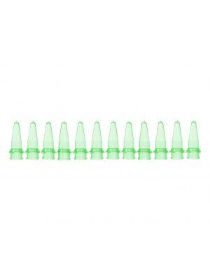 PCR 12 Well Tube Strips, .2ml, Green, 100/pck