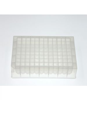 96-Well Deep Well Plate, U-bottom, Square well, 1.6 ml Sterile, 5/pk, 50/cs