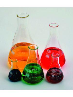 Erlenmeyer Flask, Narrow Mouth, Borosilicate Glass, 150ml, 6/pck