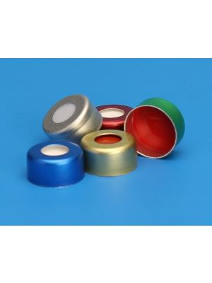 Aluminum Seals with Septa, 11mm Crimp, for 12x32mm Standard Opening Crimp Vials