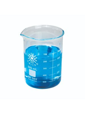 Beakers, Low Form, Borosilicate Glass, Heavy Duty, 600ml, 6/pck