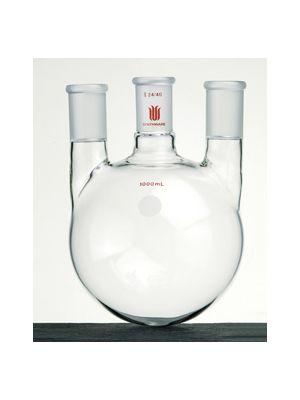 Round Bottom, 3 Neck Boiling Flask, Vertical