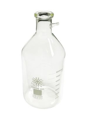 Filtering Flask, 10 Liters, Heavy Wall Borosilicate Glass