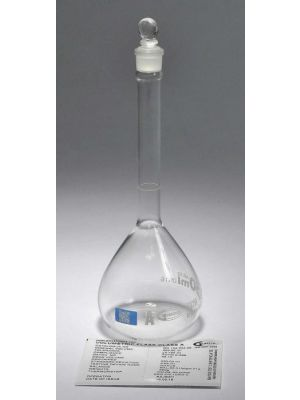 Volumetric Flasks, Class A, With Glass Stopper, Batch Certified, with QR Code, 500ml, Each