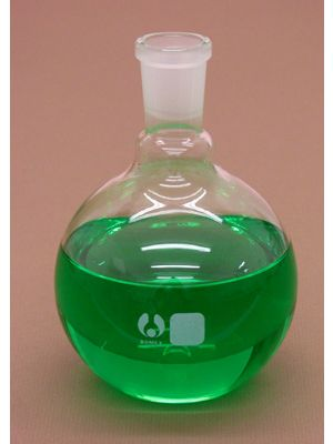 Flat Bottom Boiling Flask, Borosilicate Glass with 24/40 Joint