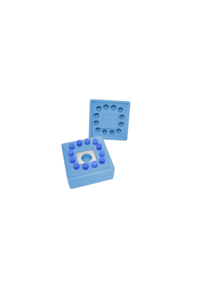 FreezeCell™ Square shape, Holds 12 vials or tubes