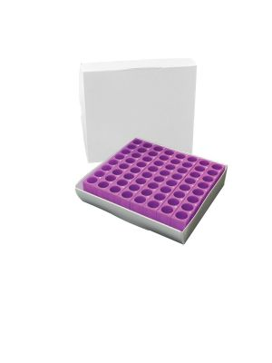 Tracrack® - Tube Rack And Cryo Storage Box, Purple, 1.5/2.0 mL, 1 ea