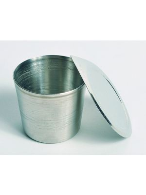 Crucible, Stainless Steel, With Lid