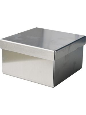 Standard 3″ Stainless Steel Cryovial Box with Cell Dividers & Drain Holes, 10/CS