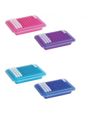 PCR® Cooler Rack, 96 Well, Assorted, Pink and Light Blue, 2/ea.
