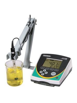 Oakton pH 2700 Benchtop pH meter with pH electrode, ATC probe, electrode stand, and software