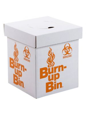 Burn Up Bin Disposal Box with Handles, Bench Model, 10x8x8