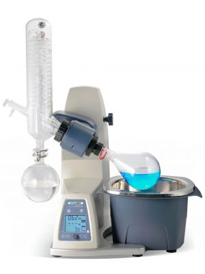 SCILOGEX RE100-Pro Rotary Evaporator, Vertical Coiled Condenser, 5L Bath, 1000ml Evaporating Flask 24/40  and 1000ml Receiving Flask 35/20,120V