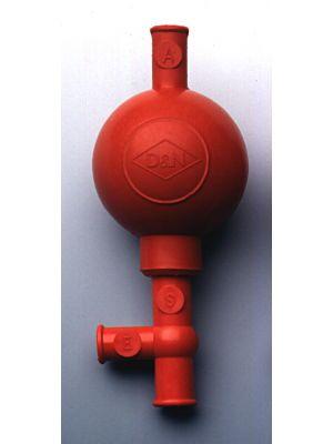 Safety Pipette Filler, Red, ea