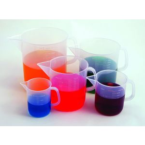 Beakers with Handle, Short Form, Polypropylene (PP)