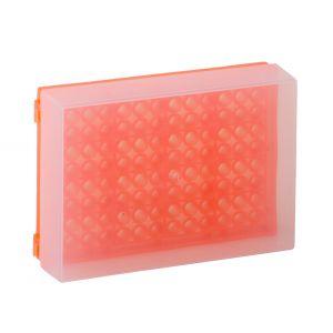 96 Well PCR Prep Rack, Orange, 5/Pack
