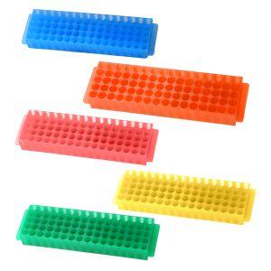 80 Well Microcentrifuge Tube Racks, Assorted, 5/Pack