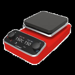 Premium Digital Stirring Hot Plate, Aluminum, Red, 120v