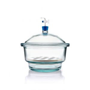 Borsoil® Glass Desiccator Vacuum, Stopcock with PTFE Spindle and Porcelain Plate, 300 mm