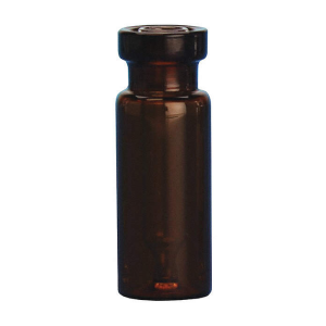 Chromatography Vials, 300µ Interlocked™ Vial/Insert, Big Mouth, 11mm Crimp Top, Amber Borosilicate Glass, 12x32mm, 100/CS