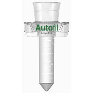 Autofil 50ml Centrifuge Tube Vacuum Filter, 0.1μm, .2μm (sterilizing grade) or 0.45μm (clarification grade) asymmetric PES membrane filter