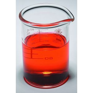 Beakers, Low Form, Borosilicate Glass, Heavy Duty, 4000ml, 1ea