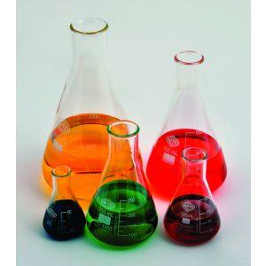 Glass Erlenmeyer Flasks, Set of 5