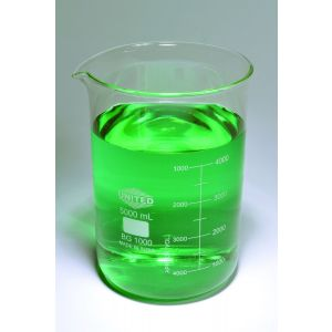 Beakers, Low Form, Borosilicate Glass, 5000ml, 1ea