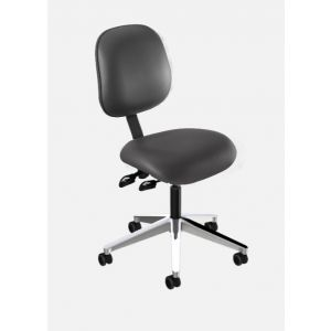 BioFit Elite (EE) Series, Elite Desk Height Chair, Black Vinyl, without Arms, Black