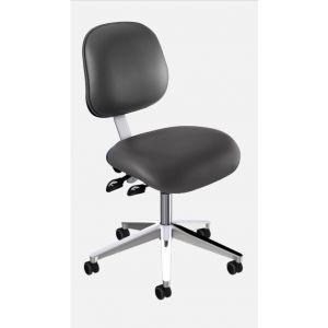 BioFit Elite (EE) Series, Elite Desk Height Chair, Black Vinyl, without Arms, Chrome