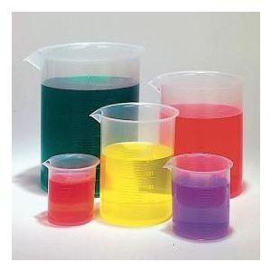 Plastic Beaker Set, Polypropylene (PP), Set of 5 (50ml, 100ml, 250ml, 500ml and 1000ml)