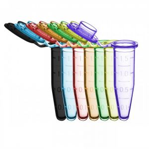 SureSeal™ S Microcentrifuge Tubes, 1.5ml, Assorted Colors (B, R, G, O, P, Y), sterile, w/ Stand-Up bag and Stop-Pops™, 500/bag, 2500/case