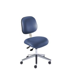 BioFit Elite (EE) Series, Elite Desk Height Chair, Blue Vinyl, without Arms, Chrome