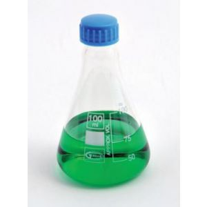 Erlenmeyer Flask, With Screw Cap, Borosilicate Glass, 100ml, 6/pck