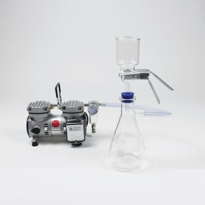 Vacuum Filtration Kit with 47mm Glass Filtration Set with Fritted Glass Base and Stainless Steel Screen Support