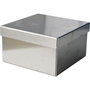 Standard 2″ Stainless Steel Cryovial Box with Cell Dividers & Drain Holes, 10/CS