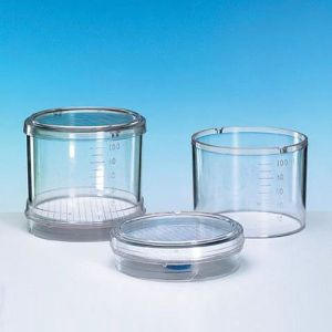 Microbiological Monitor, 47 mm, Nitrocellulose, Fixed Membrane, Sterile, 0.2μm, White/Black Grid, 50pcs.