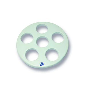 Porcelain  Desiccator Plate, Large Holes, 140mm Diameter, 1 ea