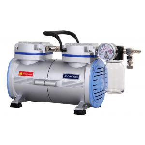 Oil Free Laboratory Chemical Resistant Vacuum Pump, PTFE Coated, Model Rocker 410c, 23Liters/Min, 29.18inHg, 110v