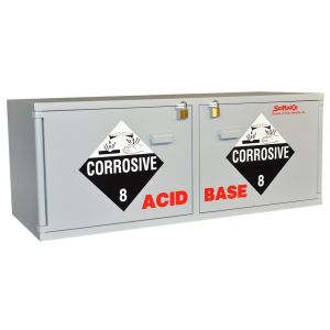 SciMatCo SC2260 Stak-a-Cab™ Combination Acid/Base Cabinet, without Self-Closing Door, Acid 10 x 2.5L, Base 10 x 2.5L