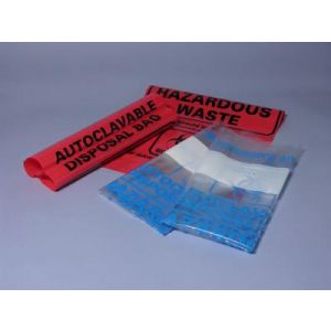 Autoclave and Biohazard Bags, Red, 12.2