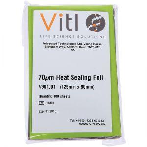Vitl 70um Heat Sealing Foil - color code RED - 100 sheets